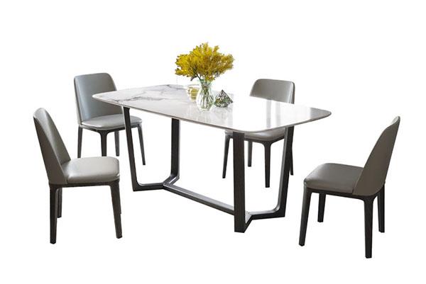 Bộ bàn ăn mặt đá 4 ghế grace T329