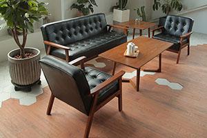 Bộ bàn ghế gỗ tần bì đệm da BG6310