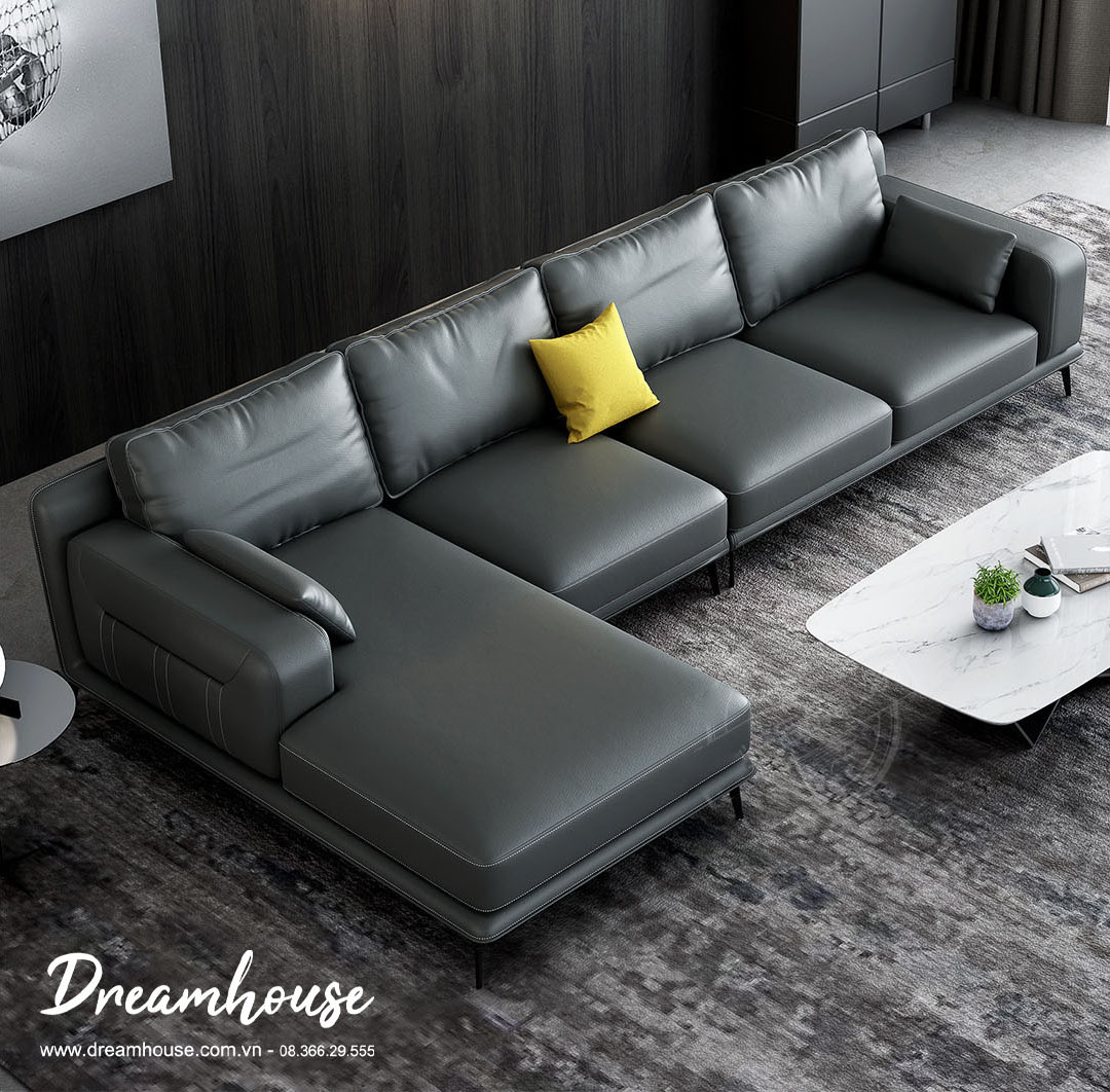 Sofa kiểu Ý da bò thật SF6294