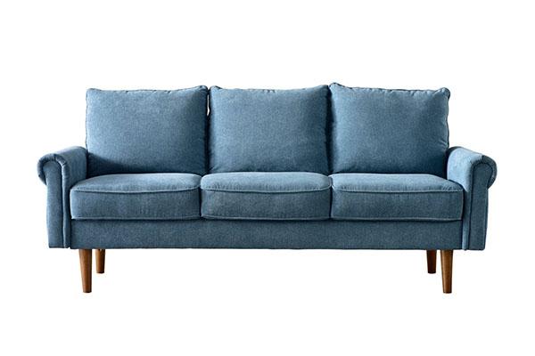 Sofa văng vải nỉ tay vịn uốn cong S787