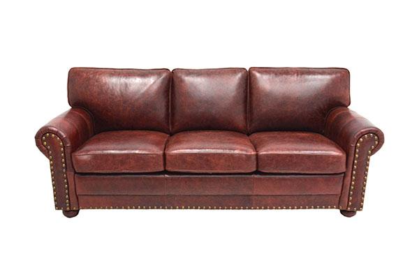 Sofa da bò thật kiểu dáng tân cổ điển S177