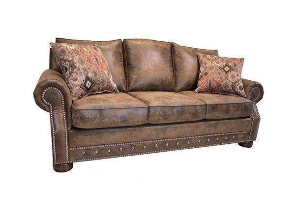 Sofa văng da bò Ý  tân cổ S850