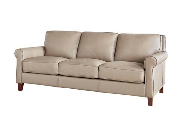 Sofa văng da Microfiber kiểu tân cổ S854
