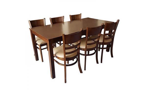 Bộ bàn ăn 6 ghế gỗ Hevea brasiliensis T994