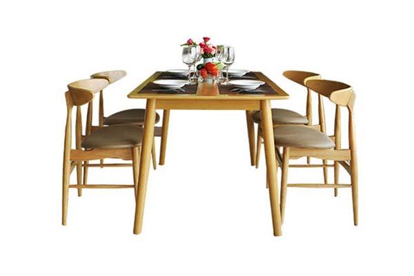 Bộ bàn ăn 6 ghế gỗ tự nhiên T006