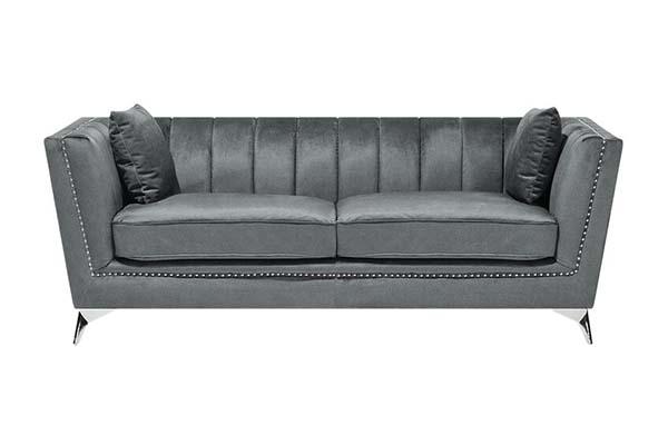 Sofa văng vải nhung tân cổ điển S018