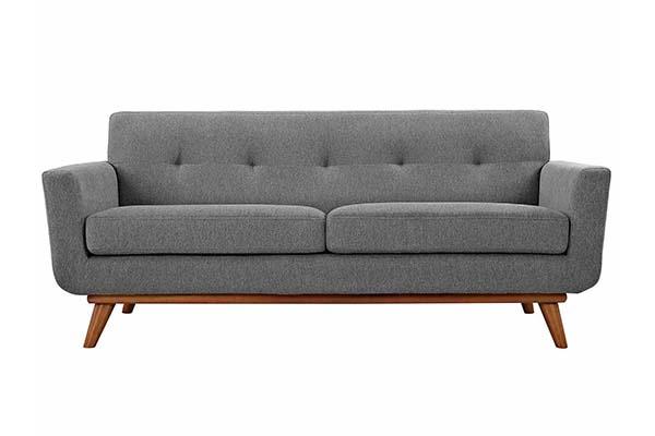 Sofa văng vải nỉ nhỏ gọn cho phòng khách S954