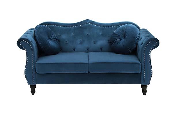 Sofa văng vải nỉ tân cổ điển S009