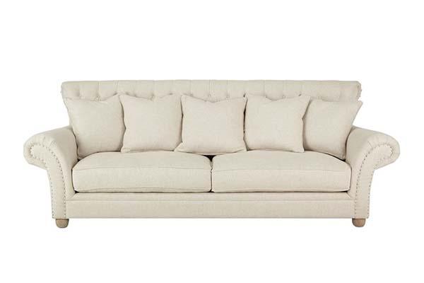 Sofa văng vải nỉ tân cổ điển S960