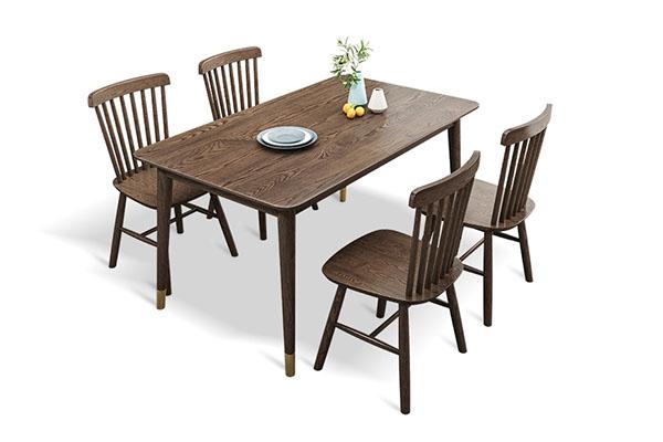 Bàn ăn 4 ghế gỗ tần bì đẹp và hiện đại T739