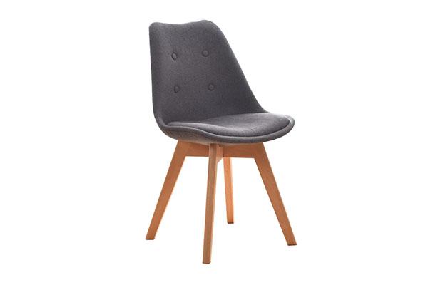 Ghế cafe - ghế Eames chân gỗ bọc nỉ cao cấp C510