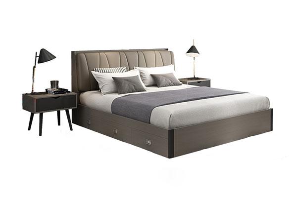 Giường ngủ bọc da nâng hạ đệm B805